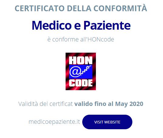 Certificato HON